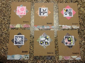 A selection of some of my ATCs